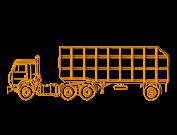 Грузовой тягач с полуприцепом